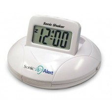 GEEMARC SONIC ALERT BATTERY POWERED POWERFUL VIBRATING ALARM CLOCK